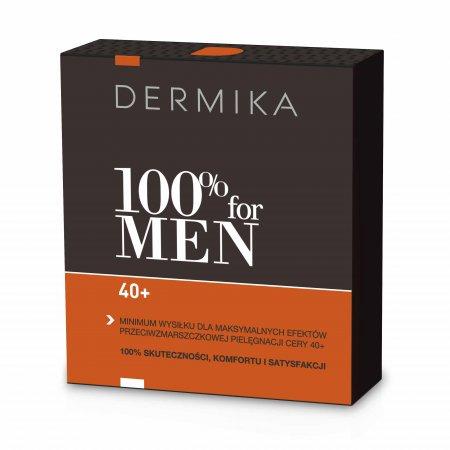 Dermika, zestaw 100% for Men 40+, krem 50ml + balsam po goleniu 40ml
