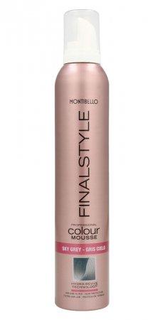 Montibello Finastyle Colour, koloryzująca pianka do włosów, szarość, 320ml
