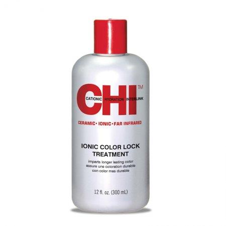 CHI Ionic Color Lock Treatment, zakwaszająca odżywka zapewniająca długotrwały kolor, 355ml