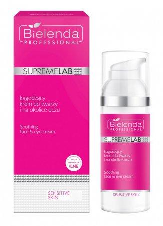 Bielenda Professional Supremelab, Sensitive Skin, łagodzący krem do twarzy i na okolice oczu, 50ml