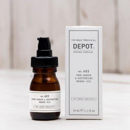 Depot No. 403, olejek przed goleniem i zmiękczający brodę, 30ml