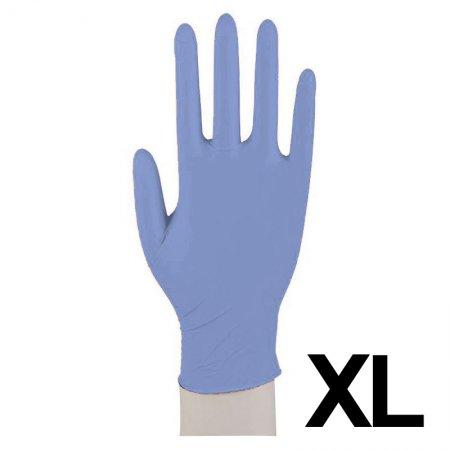 Abena, rękawiczki nitrylowe bezpudrowe, rozmiar XL, niebieskie, 100 sztuk