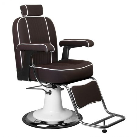Fotel barberski Gabbiano Amadeo, brązowy