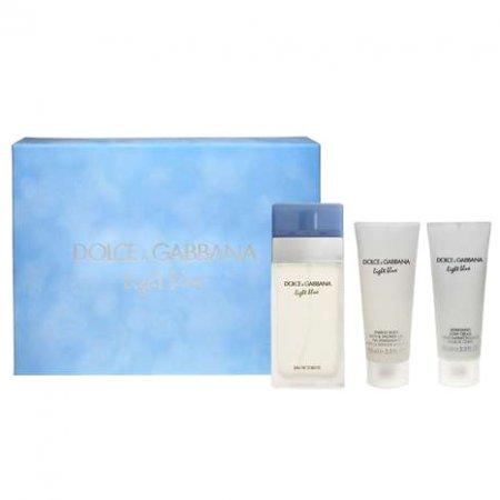Dolce & Gabbana Light Blue, zestaw perfum edt 100ml + 100ml balsam + 100ml żel pod prysznic (W)