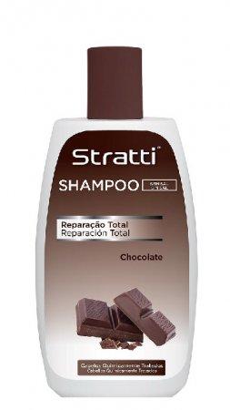 Stratti Chocolate Keratin, szampon bez soli, 400ml