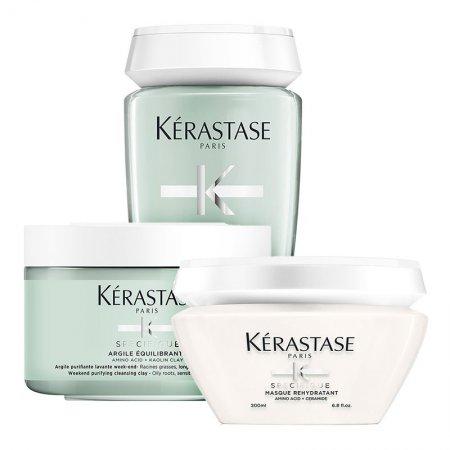 Kerastase Specifique, zestaw odświeżający, szampon + glinka + maska, 2 x 250ml + 200ml