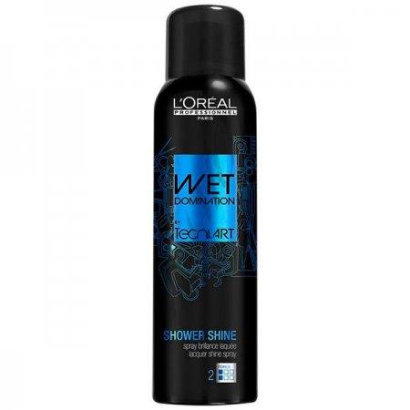 Loreal Tecni Art Shower Shine, lakier w sprayu, efekt mokrych włosów, 150ml