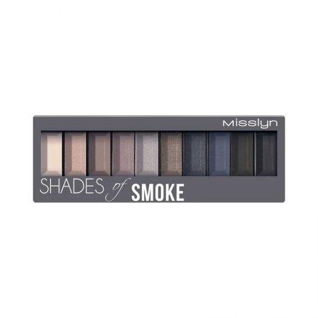 Misslyn, paleta cieni do powiek, Shades of Smoke