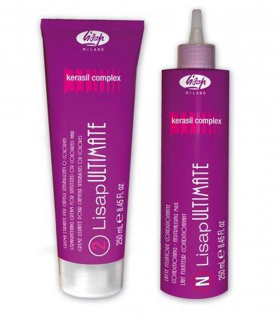 Lisap Ultimate, zestaw #2 do prostowania włosów delikatnych i farbowanych, 2x250ml