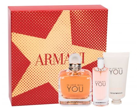 Giorgio Armani Emporio Armani In Love With You, zestaw: Edp 100 ml + Edp 15 ml + Krem do rąk 50 ml (W)