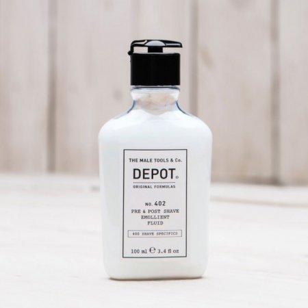 Depot No. 402, zmiękczający fluid przed/po goleniu, 100ml