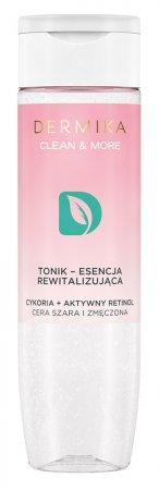 Dermika Clean&More, rewitalizujący tonik-esencja cykoria + retinol, 200ml