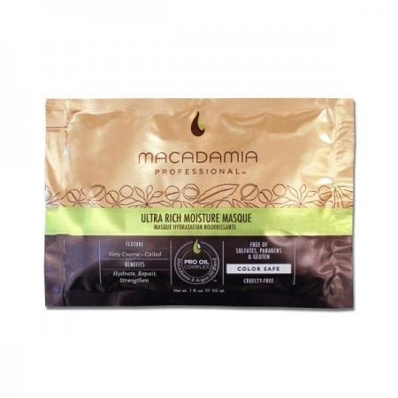 Macadamia Professional Ultra Rich, nawilżająca maska do włosów, 30ml