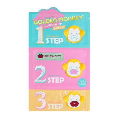 Holika Holika Golden Monkey Lip Kit, maseczka na usta w 3 krokach