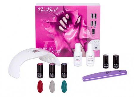 NeoNail Smart Set First Step, zestaw dla początkujących do manicure z lampą UV