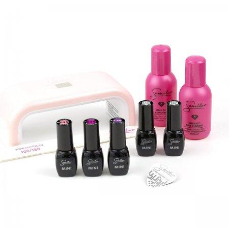 Semilac, zestaw do manicure hybrydowego, lampa 6W, 3 kolory