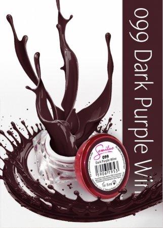 Żel kolorowy Semilac UV Gel 099 Dark Purple Wine, 5 ml - krótka data ważności (11.2019)
