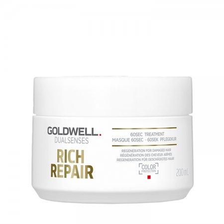 Goldwell Dualsenses Rich Repair, 60-sekundowa kuracja odbudowująca, 200ml
