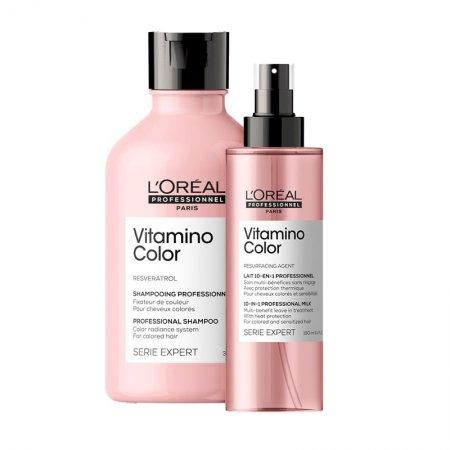 Loreal Vitamino Color, zestaw do włosów farbowanych, 300ml + 190ml