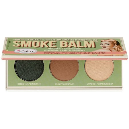 The Balm Smoke 2, Smokey Eye Palette, paleta 3 cieni do powiek, 10,2g