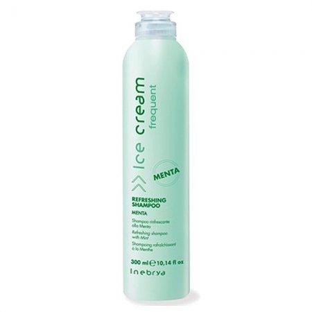Inebrya Frequent Mint, odświeżający szampon do włosów, miętowy, 300 ml