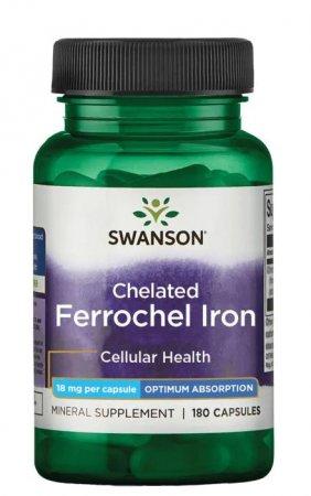 Swanson, albion chelat żelaza - Ferrochel, 180 kapsułek