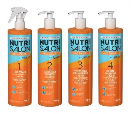 NutriSalon Argan Oil, zestaw odżywczy do włosów puszących się, 4x500ml