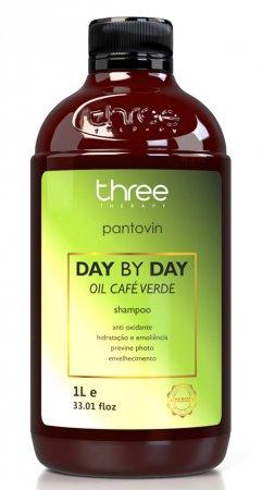 Three Therapy Cafe Verde Day by Day, szampon wzmacniający, 1000g