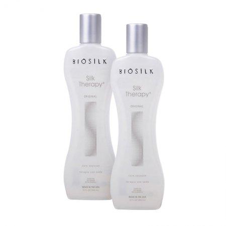Biosilk Silk Therapy, jedwab do włosów, dwupak, 2x355ml