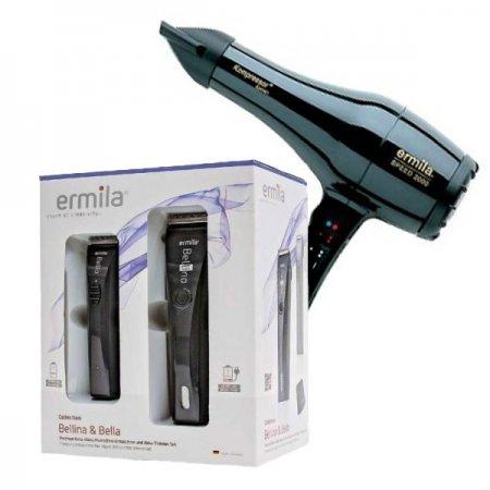 Ermila, zestaw maszynka Bellina + trymer Bella + suszarka Speed 2000