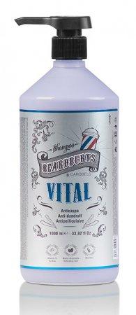 Beardburys Vital, szampon przeciwłupieżowy, 1000ml