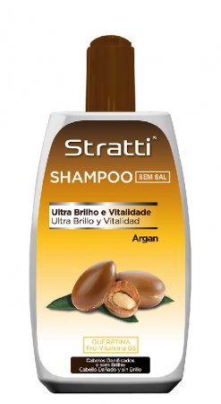 Stratti Argan, szampon z keratyną bez soli, 400ml