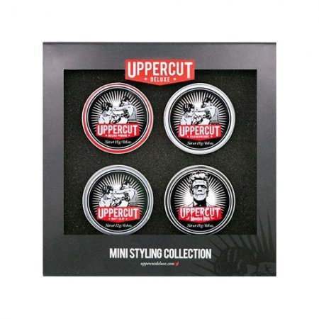 Uppercut Deluxe, Mini Styling Collection, zestaw pomad, 3x18g+1x12g