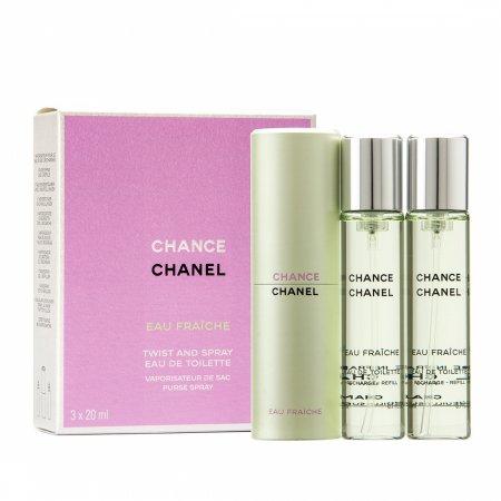 Chanel Chance Eau Fraiche, woda toaletowa, 3x20ml (W)