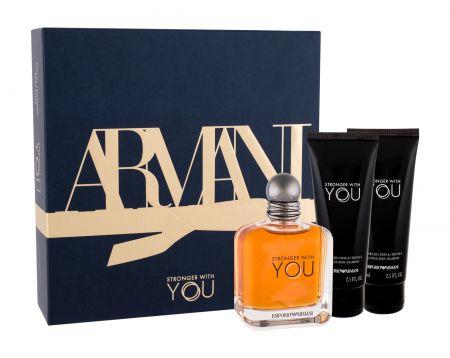 Giorgio Armani Emporio Armani Stronger With You, zestaw: Edt 100 ml + Żel pod prysznic 2 x 75 ml (M)