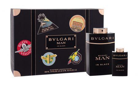 Bvlgari Man In Black, zestaw: EDP 100 ml + EDP 15 ml (M)