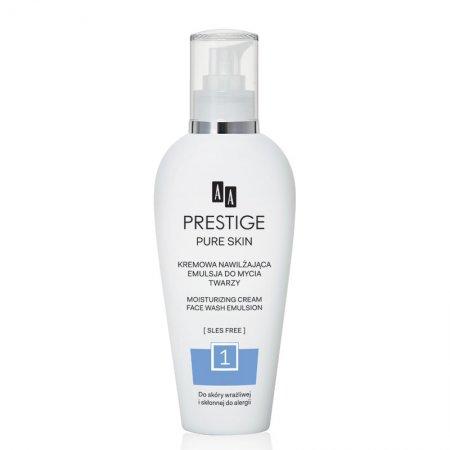 AA Prestige, oczyszczająca kremowa emulsja do mycia twarzy, 200ml