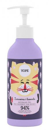 Yope, żel pod prysznic dla dzieci Żurawina i Lawenda, 400ml