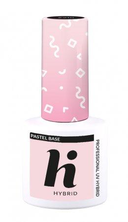 hi hybrid Pastel Base, baza do lakieru hybrydowego w kolorze pastelowego różu, 5ml