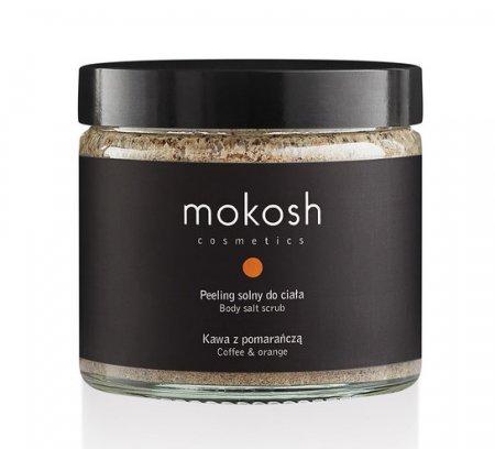 Mokosh, peeling solny do ciała, kawa z pomarańczą, 300g