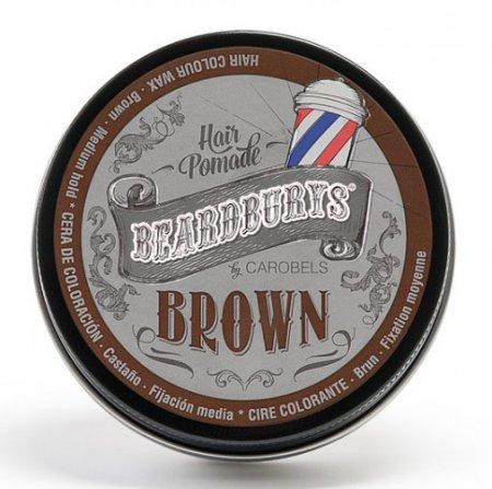 Beardburys, koloryzujący wosk do włosów, brązowy, 100ml
