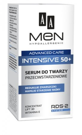 AA MEN Advanced Care Intensive 50+, serum do twarzy przeciwstarzeniowe, 50 ml