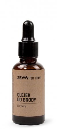 ZEW for Men, odżywczy olejek do brody z pipetą, 30ml