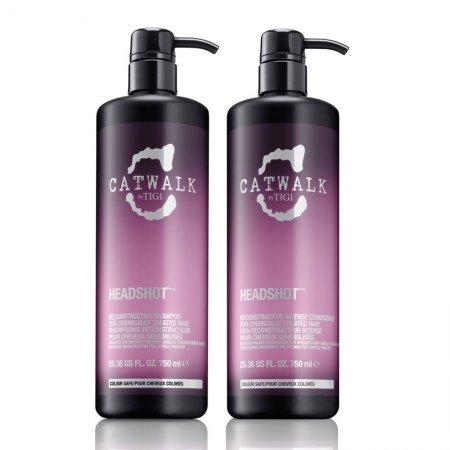 Tigi Tweens Catwalk Headshot, zestaw rekonstruujacy, szampon 750ml + odżywka 750ml