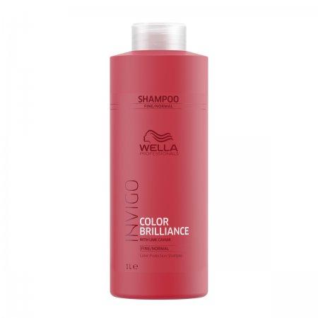 Wella Invigo Color Brilliance, szampon do włosów farbowanych, normalnych i cienkich, 1000ml