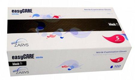 EasyCare, rękawiczki nitrylowe, czarne, rozmiar S, 100 sztuk