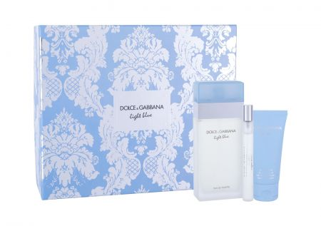 Dolce&Gabbana Light Blue, zestaw: Edt 100 ml + Krem do ciała 50 ml + Edt 10 ml (W)