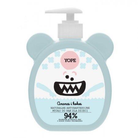 Yope, mydło dziecięce antybakteryjne Ananas i Kokos, 400ml