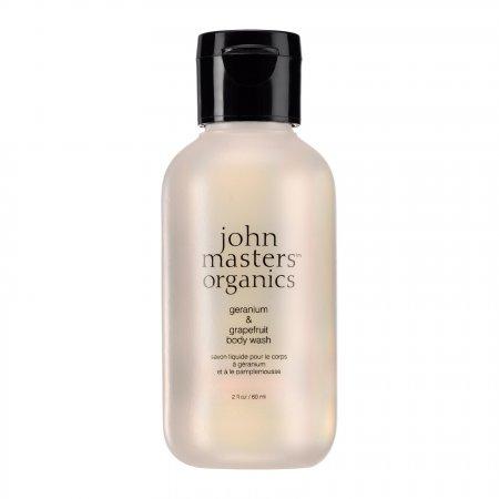 John Masters Organics, Geranium & Grejpfrut, żel do mycia ciała, 60ml