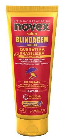 Novex Brazilian Keratin Capillary Shield, odżywka z keratyną, 200g